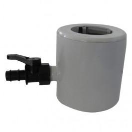 R cup rateur d 39 eau de pluie pvc pour tubes 63 80 100 gris - Raccord gouttiere pour recuperateur d eau ...