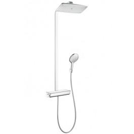 HANSGROHE Showerpipe Raindance Select E 360 - Blanc/Chrome