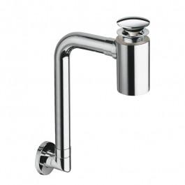 Siphon lavabo gain de place avec bonde up&down
