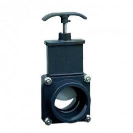 Vanne arrêt guillotine pour SANICUBIC tuyau arrivée DN50