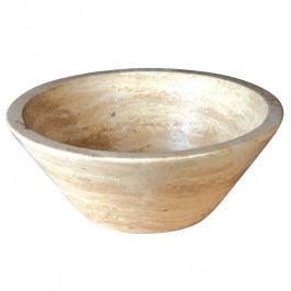Vasque bol conique à poser en pierre H15,5cm - Ø41cm