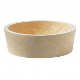 Vasque bol cylindrique à poser en pierre H15cm - Ø42cm