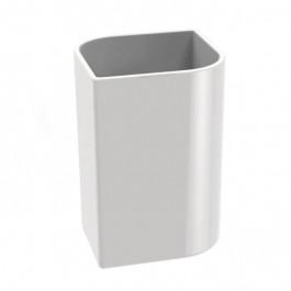 Verre KOH-I-NOOR VELA à poser 8x8x11.5cm céramique blanche