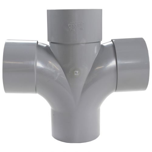 Culotte PVC Double Parallèle 87°30 Mâle Femelle Ø100 FIRST-PLAST