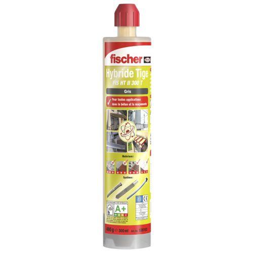 Cartouche scellement chimique - Ton Gris 300ml - Fischer 520103