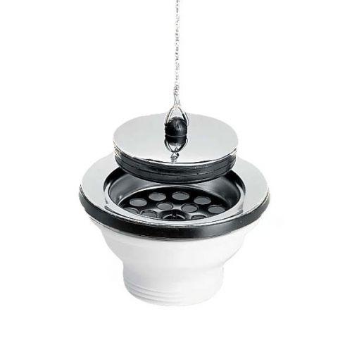 Bonde lavabo à bouchon-chainette Ø65mm - Nicoll