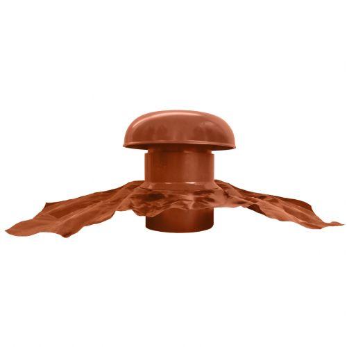 Ventilation toiture Chapeau de ventilation PVC sans moustiquaire /Ø125mm Rouge tuile