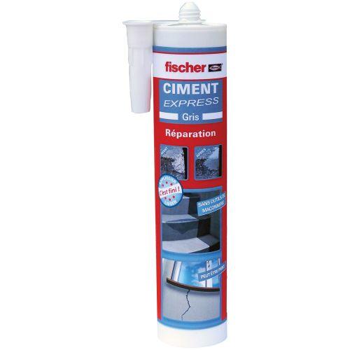 Carton de 12 cartouches Ciment Express 310ml - Ton gris - Fischer 519175