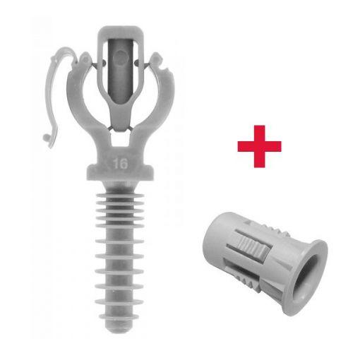 CLIPEO Simple GRIS + Bagclip - Fixation pour tube IRL