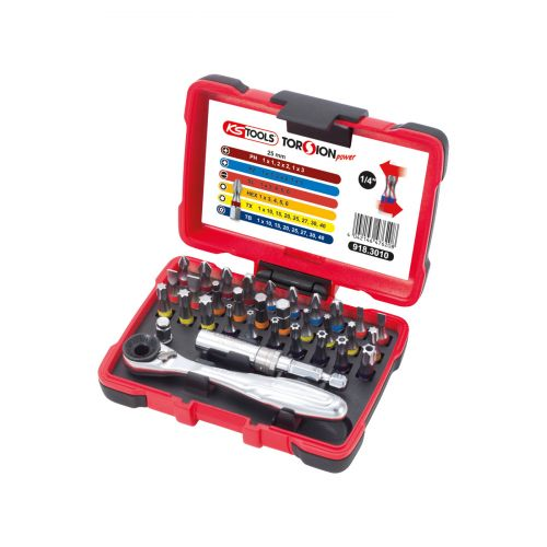 PZ2 KS TOOLS 911.2223 Boîte de 5 embouts de vissage POZIDRIV® 1//4/'/' L.25 mm