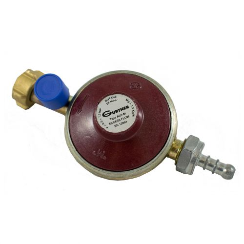 Détendeur basse pression gaz Butane 1.3kg/h - Mâle 20x150 + tétine