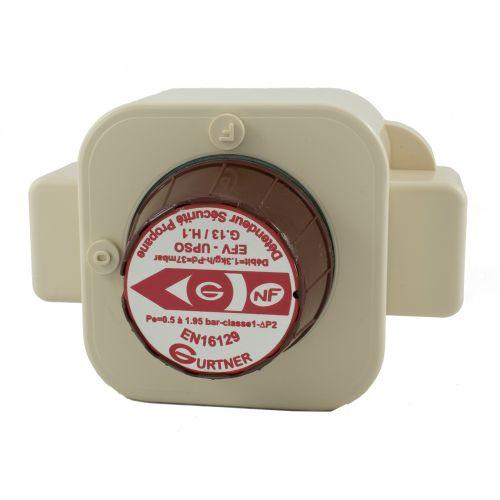 Détendeur à Sécurité gaz Propane - 1.3kg/h 37mbar - Mâle 20x150 - NF