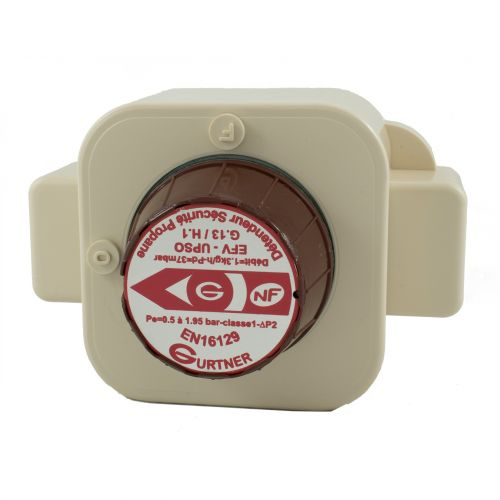 Détendeur à Sécurité gaz Propane - 3kg/h 37 mbar - Mâle 20x150 - NF