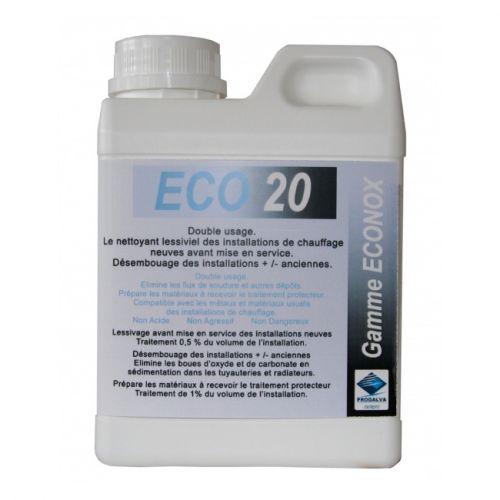 Nettoyant lessiviel installation chauffage ECO 20 (bidon 1 litre)