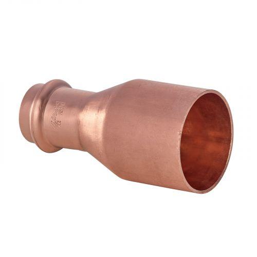 Raccord cuivre à sertir - Réduction Mâle/Femelle Ø54x35