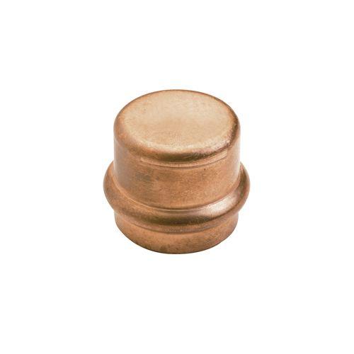 Raccord cuivre à sertir - Bouchon Femelle Ø16