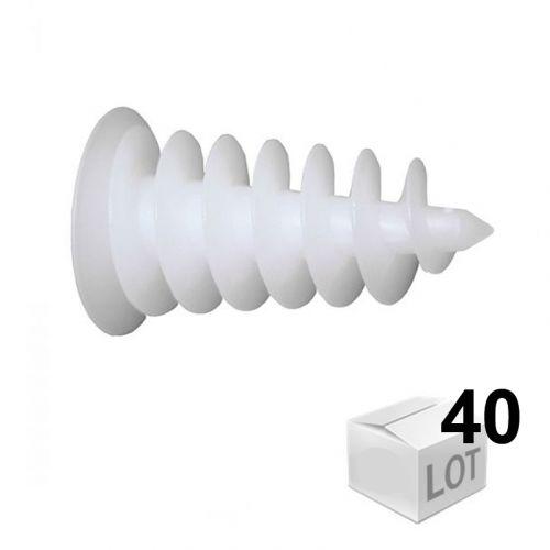 Lot de 300 clips de tuyau 40 mm pour chauffage au sol
