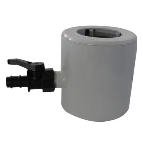 Récupérateur d'eau de pluie PVC pour tubes Ø 63-80-100 -gris