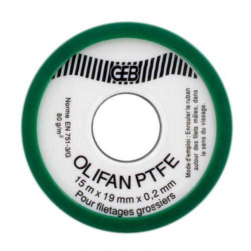 Ruban téflon PTFE Standard gros diamètre