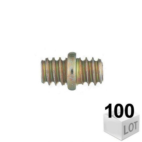 100 Raccords de jonction Mâle-Mâle 7x150
