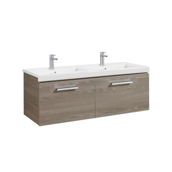 Meuble Unik PRISMA 1200mm 2 tiroirs et lavabo double