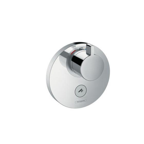 Set de finition pour mitigeur thermostatique ShowerSelect S encastré haut débit avec une sortie permanente et un robinet d'arrêt Hansgrohe
