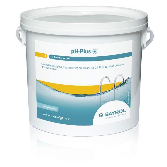 pH-Plus - Augmente le pH piscine - Boîte 5kg avec doseur - BAYROL