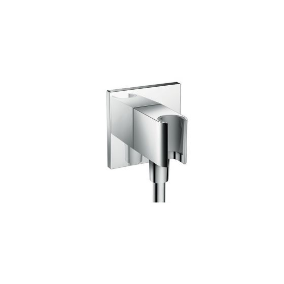 Fixfit Porter Square Coude de raccordement flexible+support Douchette chromé Hansgrohe