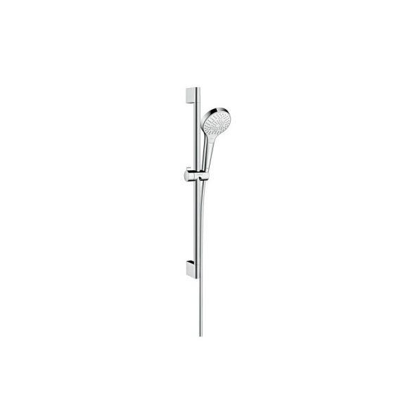 Set Croma Select S 110 Multi EcoSmart / Unica'Crometta 0,65m blanc chromé Hansgrohe