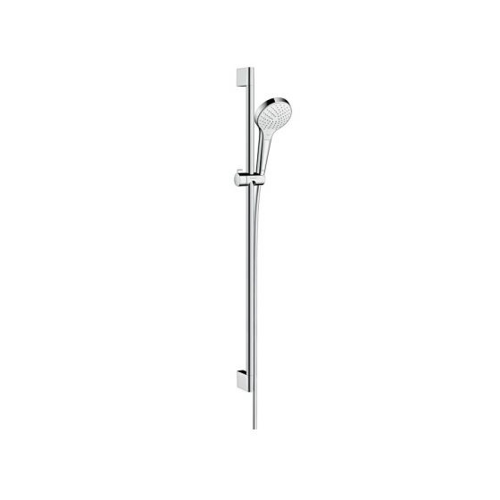 Set Croma Select S 110 Vario EcoSmart / Unica'Crometta 0,90m blanc chromé Hansgrohe