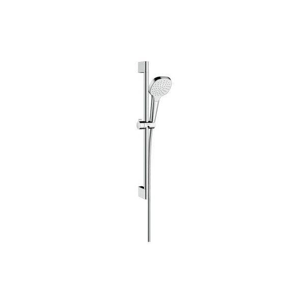 Set Croma Select E 110 1jet EcoSmart / Unica'C 0,65m blanc chromé Hansgrohe