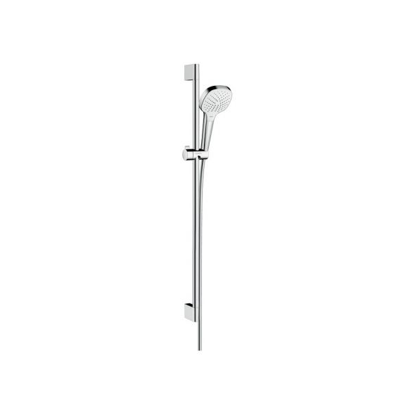 Set Croma Select E 110 Vario EcoSmart / Unica'C 0,90m blanc chromé Hansgrohe
