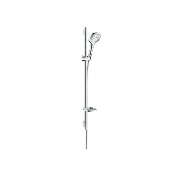 Set Raindance Select E 120 EcoSmart / Unica'S Puro 0,90 m blanc chromé Hansgrohe
