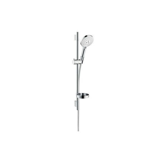 Set Raindance Select S 120 EcoSmart / Unica'S Puro 0,65 m blanc chromé Hansgrohe