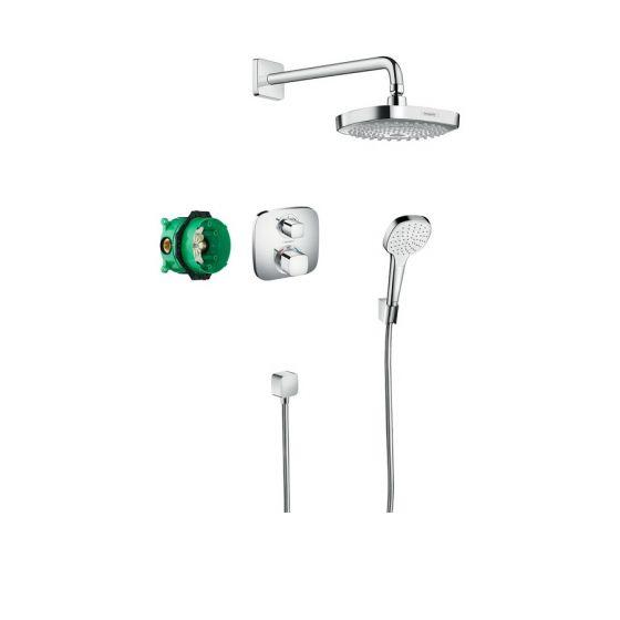 Pack encastré Design ShowerSet Croma Select E / Ecostat E Chromé Hansgrohe