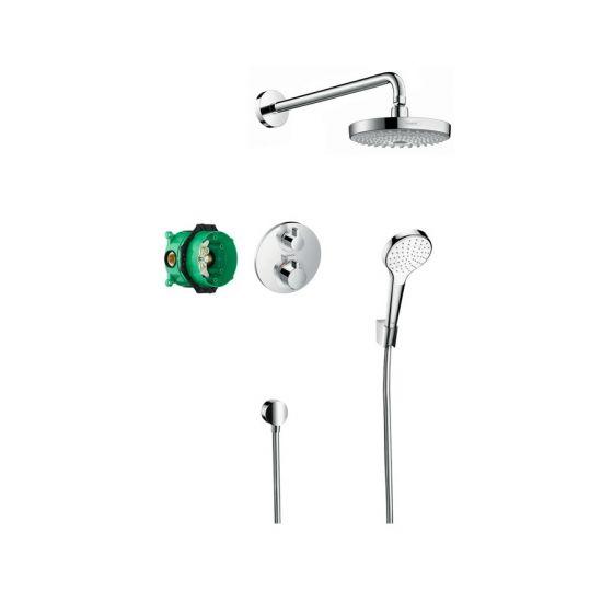 Pack encastré Design ShowerSet Croma Select S / Ecostat S Chromé Hansgrohe