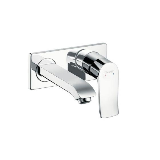 Mitigeur lavabo encastré METRIS bec court 165mm Chromé Hansgrohe