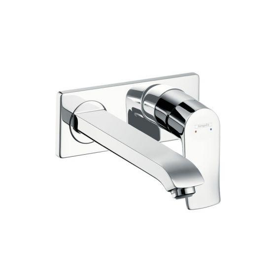 Mitigeur lavabo encastré METRIS bec court 225mm Chromé Hansgrohe