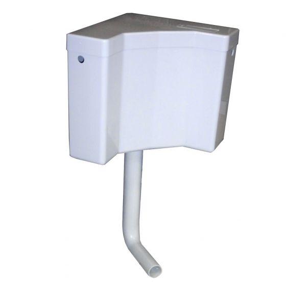 Réservoir wc d'angle semi-bas avec tube