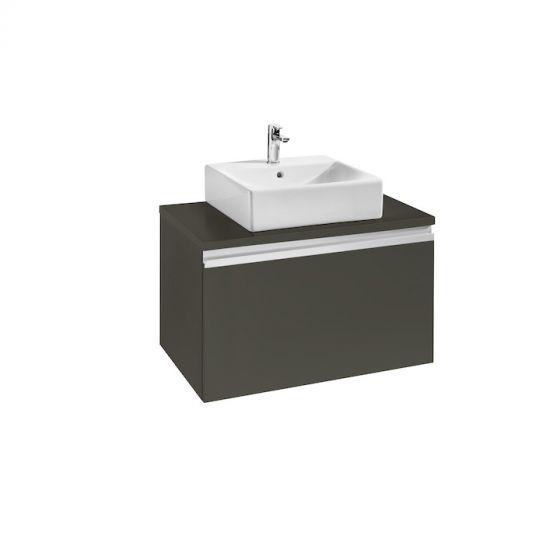 Meuble heima 800 1 tiroir pour 1 vasque poser - Meuble pour poser vasque ...