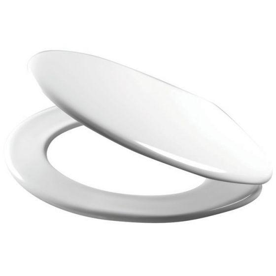 Abattant thermodur VIP frein de chute Charnière Inox blanc - WIRQUIN