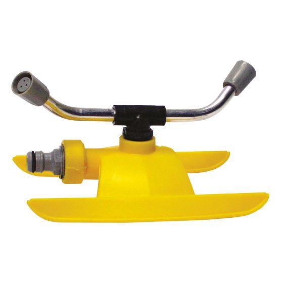Arroseur rotatif 2 bras traineau polyéthylène - 80m²
