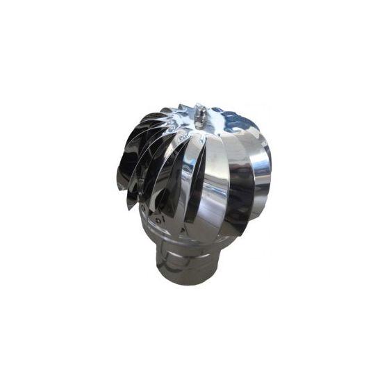 Aspirateur éolien pour toiture - Inox