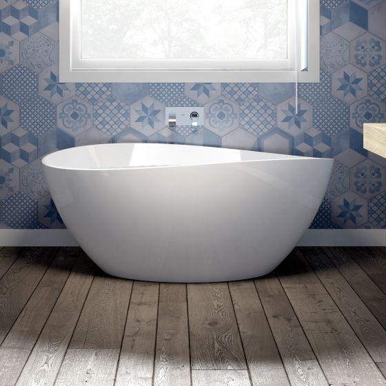 baignoire lot ovale illusion white 154x80 cm jacuzzi
