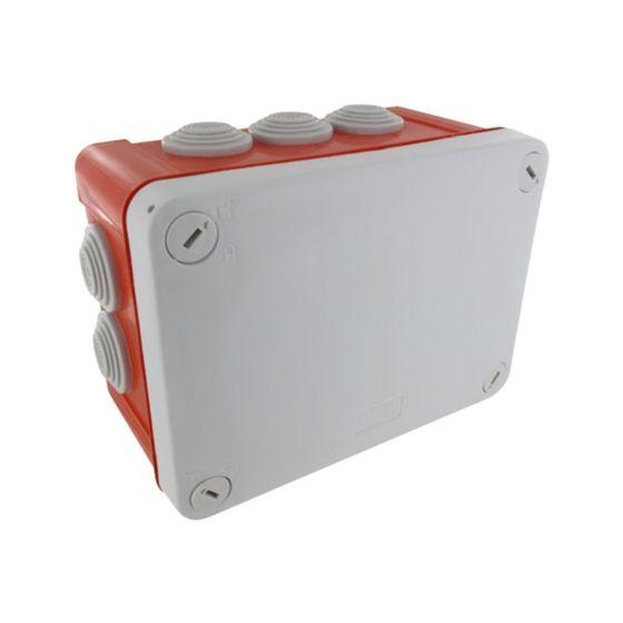 Boite dérivation étanche rouge OPTIBOX tétines IP55 155x110x80mm