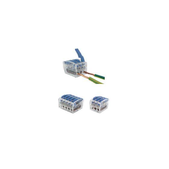 75 Bornes de connexion 3 fils 0.75 à 2.5mm²  à levier