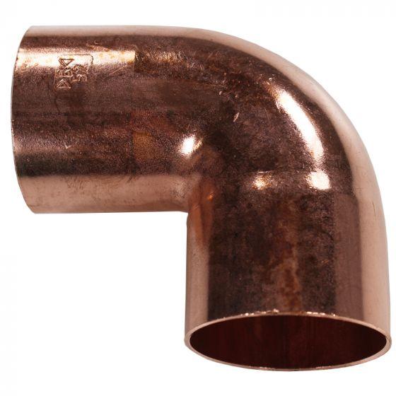 Coude cuivre à souder Femelle Femelle 90° DISPONIBLE en 11 MODÈLES