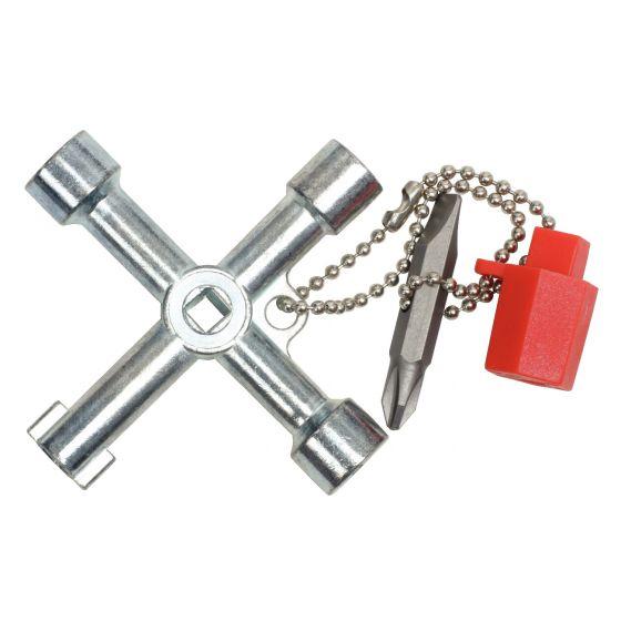 Clé universelle pour armoire éléctrique, 72x72 mm KS Tools 130.1015