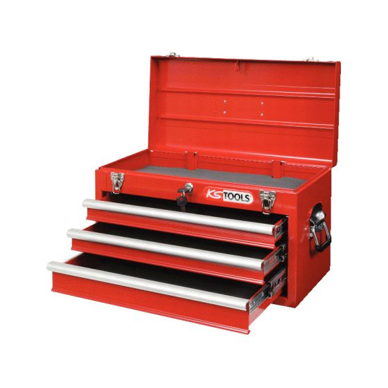 Coffre à outils vide avec 3 tiroirs KS Tools 891.0003