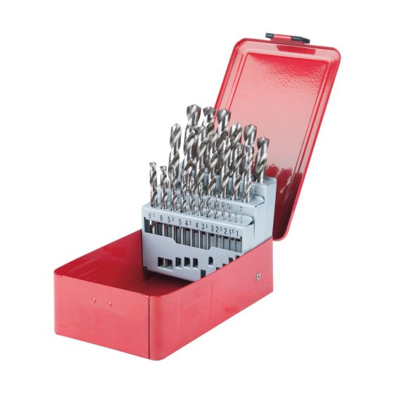 Coffret de 25 forets HSS-G meulés, Ø1,0-13,0 mm KS Tools 330.2613